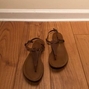 Classic brown leather sandals